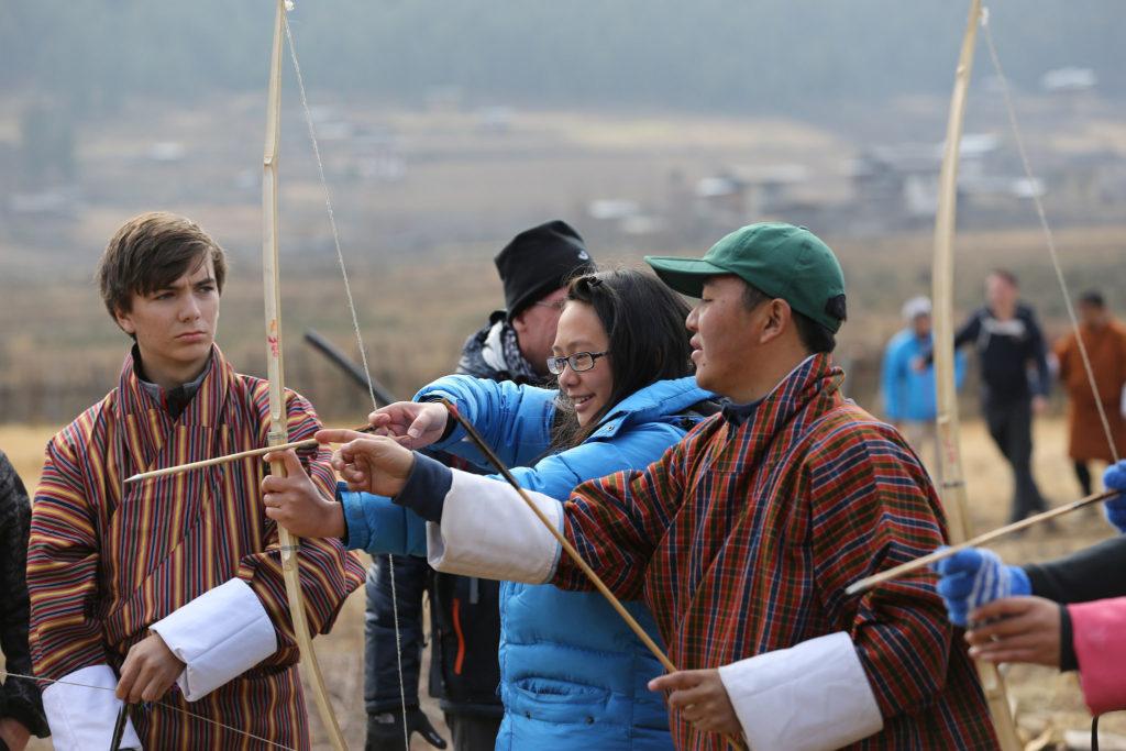 students_practice_archery_in_bhutan